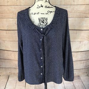 Tommy Hilfiger Dark Blue Blouse with White Dots